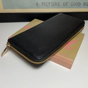 A New Day Black Faux Leather Zip Around Wallet